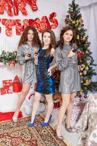 new year with girls