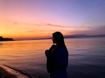 beautiful sunset by the sea...