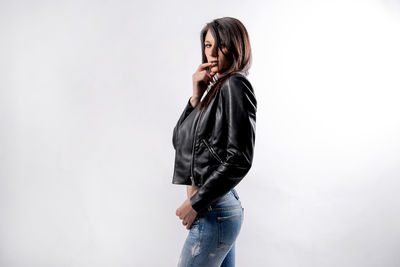 Leather and jeans!